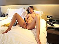 Hot mama teasing her precious opening