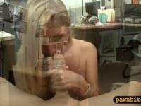 Petite amateur blonde babe banged by pervert pawn dude