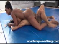 Hard-core Lesbo Sex with Wrestling on Academy Wrestling
