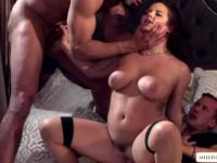 Hot Keisha Grey exactly gets what she wants which is a wild threesome