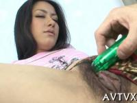 lovely asian receives zealous toying for her juicy twat