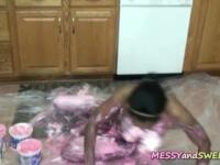 Ebony chick gets sweet and dirty