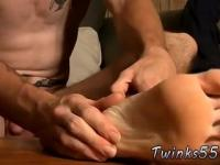 Teen guy feet movie and gay twink rubbing his foot on his friend Glock is