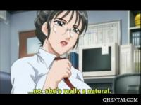 Squirting Anime lady doctor gets pounded