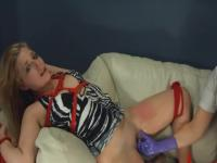 hermosa nena bdsm violentamente follado con cuerdas