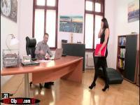 Hot secretary Vanessa likes suck cocks in her work