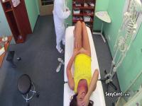 Horny doctor lcking wet pussy