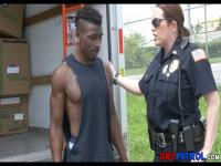 Cops Suck off black suspect in moving van