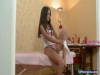 Russian Teen Vanessa Gets A Massage
