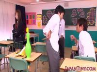 Japanese schoolgirl pov tugging till cum