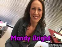 Mandy Bright has nice cleavage because, she has big naturally grown hooters