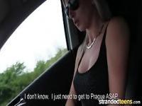 Mofos - Hot blonde sucks dick for a lift