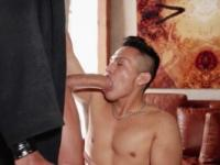 Slut boy services cock