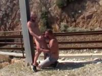 Fucking by the train