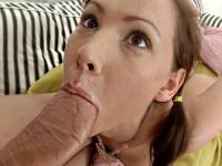 Fucking her face and filling her ass with jizz