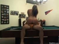 Fucking Hot Slut On A Billiard Table