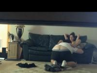 Voyeur Sextape With The GF On The Sofa