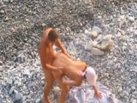 Couple fucked on nude beach