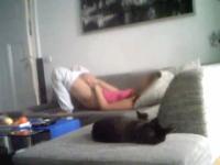 Roommate caught masturbating on hidden camera