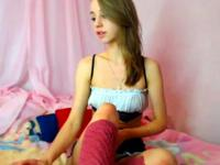 Chaturbate - Stunning 18-year-old slams her ass