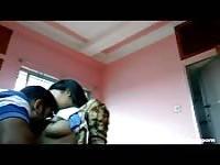 Hindi lovers smooch. kiss, and caress