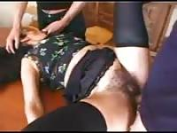 Old MILF getting her hairy pussy stuffed