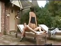 Super sweet outdoor cock ride