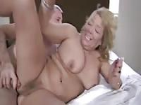 Mature blonde MILF loves riding on that cock hard
