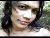 Desi girl outdoor tease
