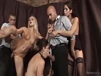 Hot slut gang bangs