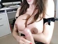 This big boob Latina MILF is going to suck you off hard