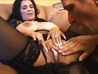 Big cock for a busty Latina