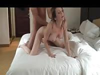 Alluring slut getting fucked in a hotel room