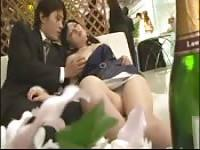 Japanese girl gets fondled and fucked in public