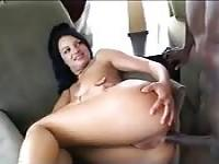 Bella Donna just can't get enough black pole up her asshole