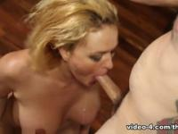 Marvelous fair-haired Krissy Lynn acting in amazing BJ scene