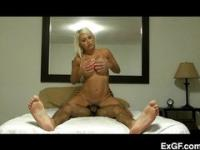 Cheating blonde takes a pussy pounding