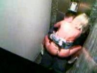 Teen couple caught in the toilet