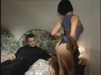 Italian Milf Brunette Strokes And Sucks Cock