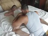 COCK licking ASS rimming 2 DADS 1 BOY