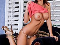 Brunette with a perfect body and big boobs enjoys fucking