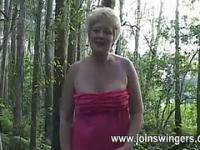 Single older masturbates outdoor