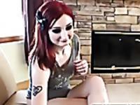 Redhead Emo Amateur Hottie Fucked!