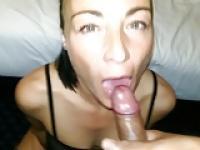 Friend swallowing a creamy load!