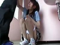 Asian girl fucked in a public bathroom