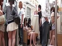 giapponesi piccole sul treno