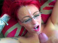 Redheaded Brit is a NATURAL whore