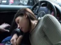 Czech girl car blowjob in public