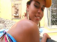 Outdoor sex with a slutty Brazilian