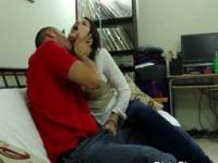 Brunette On Sofa Caught Sucking Dick On Hidden Camera
